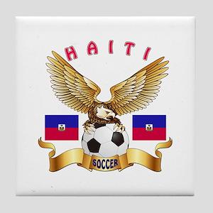 Haiti Football Design Tile Coaster