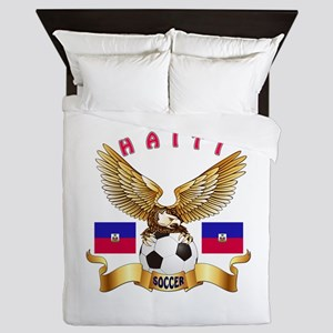 Haiti Football Design Queen Duvet