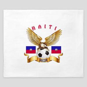 Haiti Football Design King Duvet