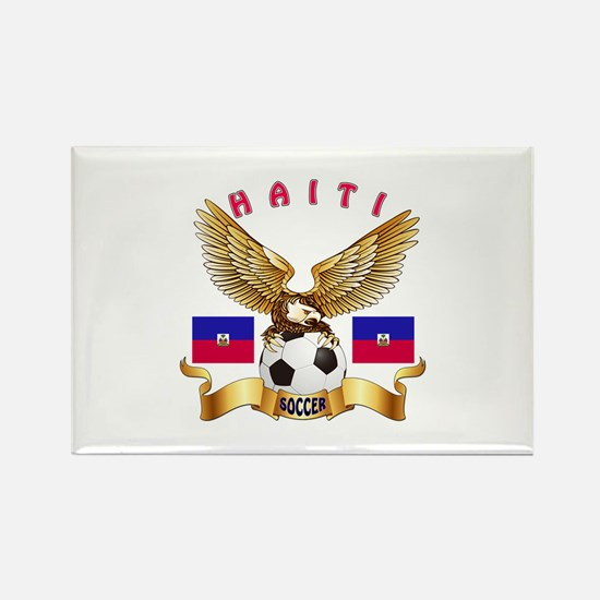 Haiti Football Design Rectangle Magnet