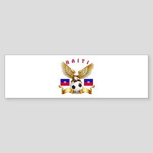 Haiti Football Design Sticker (Bumper)