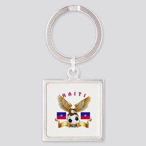 Haiti Football Design Square Keychain