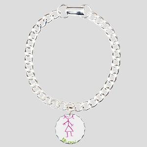 Nannie-cute-stick-girl Charm Bracelet, One Cha