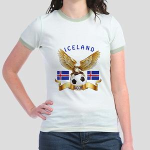 Iceland Football Design Jr. Ringer T-Shirt