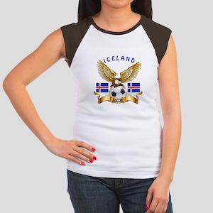 Iceland Football Design Women's Cap Sleeve T-Shirt