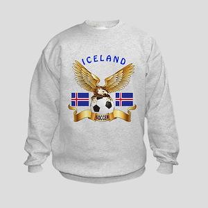 Iceland Football Design Kids Sweatshirt