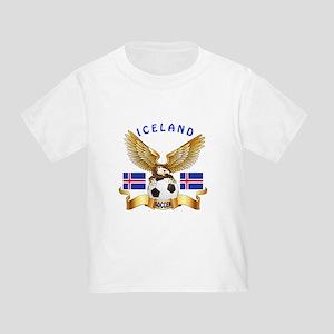 Iceland Football Design Toddler T-Shirt