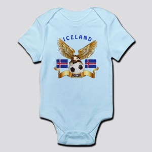 Iceland Football Design Infant Bodysuit
