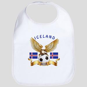 Iceland Football Design Bib