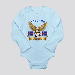 Iceland Football Design Long Sleeve Infant Bodysui