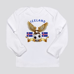 Iceland Football Design Long Sleeve Infant T-Shirt