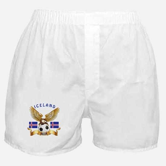 Iceland Football Design Boxer Shorts