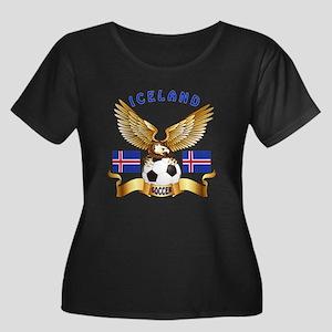 Iceland Football Design Women's Plus Size Scoop Ne