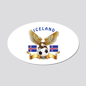 Iceland Football Design 20x12 Oval Wall Decal