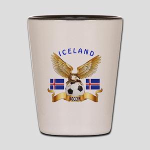 Iceland Football Design Shot Glass