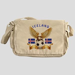 Iceland Football Design Messenger Bag