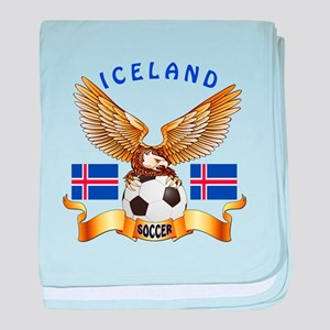 Iceland Football Design baby blanket