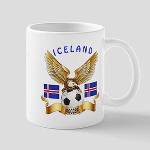 Iceland Football Design Mug