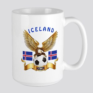 Iceland Football Design Large Mug