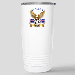 Iceland Football Design Stainless Steel Travel Mug