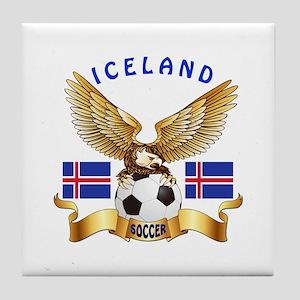 Iceland Football Design Tile Coaster