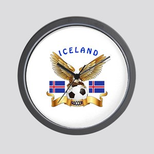 Iceland Football Design Wall Clock