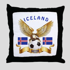 Iceland Football Design Throw Pillow