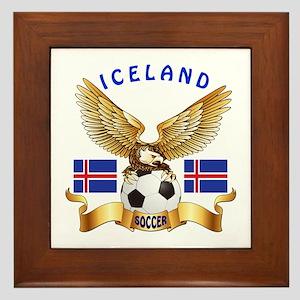 Iceland Football Design Framed Tile