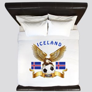 Iceland Football Design King Duvet
