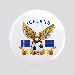 "Iceland Football Design 3.5"" Button"