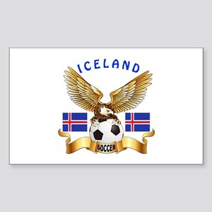 Iceland Football Design Sticker (Rectangle)