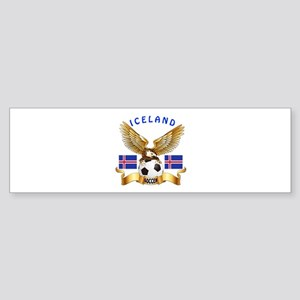 Iceland Football Design Sticker (Bumper)