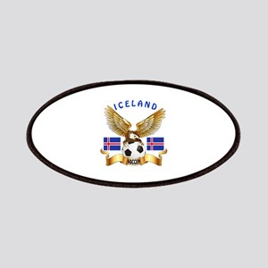 Iceland Football Design Patches