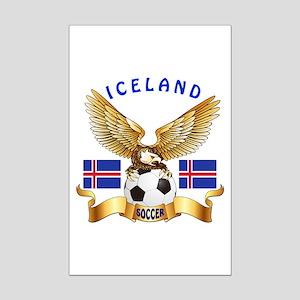 Iceland Football Design Mini Poster Print