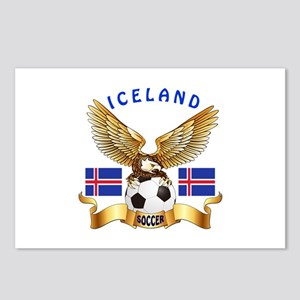 Iceland Football Design Postcards (Package of 8)