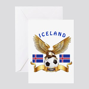 Iceland Football Design Greeting Card