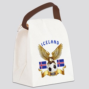 Iceland Football Design Canvas Lunch Bag