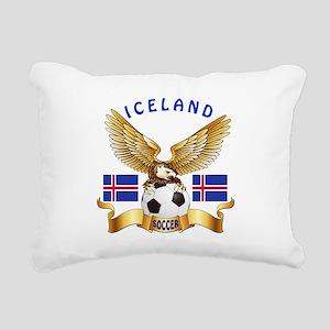 Iceland Football Design Rectangular Canvas Pillow
