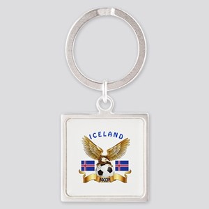 Iceland Football Design Square Keychain