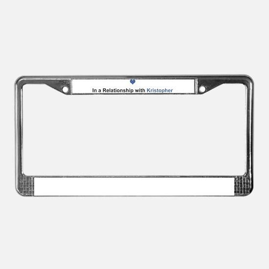 Kristopher Relationship License Plate Frame