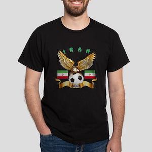 Iran Football Design Dark T-Shirt