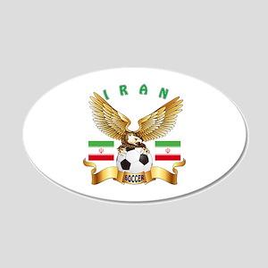 Iran Football Design 20x12 Oval Wall Decal