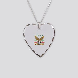 Iran Football Design Necklace Heart Charm