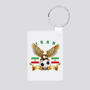 Iran Football Design Aluminum Photo Keychain