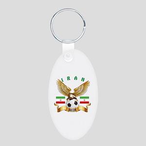 Iran Football Design Aluminum Oval Keychain