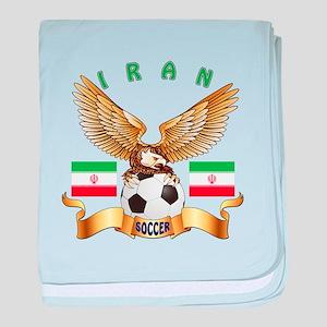 Iran Football Design baby blanket