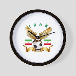 Iran Football Design Wall Clock