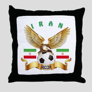 Iran Football Design Throw Pillow