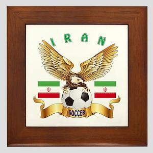 Iran Football Design Framed Tile