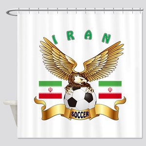 Iran Football Design Shower Curtain